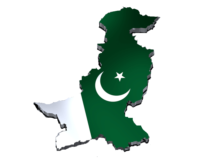 Asia-Pakistan-flag-map